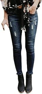 STRIR-Ropa Pantalones Mujer Vaqueros,Mujer Pantalones Vaquero Skinny Push Up Pantalones Elástico Jeans Cintura Alta