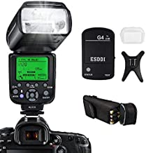 Camera Flash for Nikon,DSLR Camera,I-TTL 1/8000 HSS GN58,Multi,ESDDI Wireless Camera Flash Set Include 2.4G Wireless Flash Trigger,Cold Shoe Base Bracket and Accessories