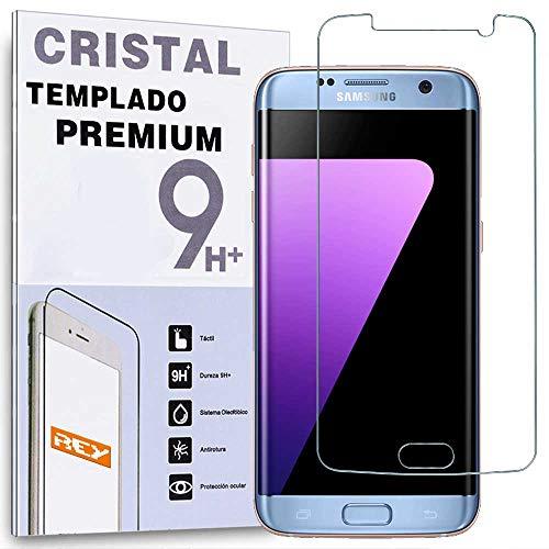 REY Protector de Pantalla para Samsung Galaxy S7 EdgeCristal Vidrio Templado Premium