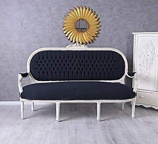 Barock Sofa Salonsofa Weiss Sitzbank Barock Prunk Rokoko Recamiere Couch