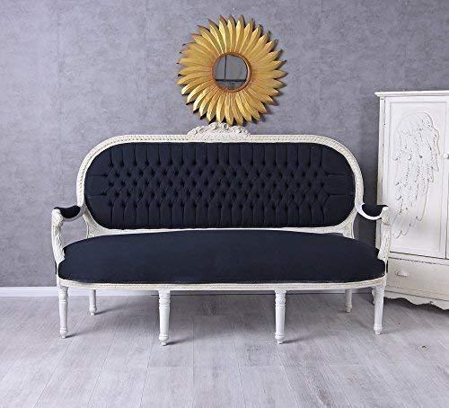 Prunksofa XXL Sofa Couch Barock Sitzbank Sofabank Schwarz Weiss Salonsofa Palazzo Exklusiv