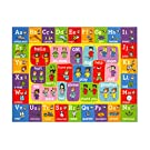 """Playtime Collection ABC Alphabet ASL Sign Language Educational Learning Area Rug Carpet for Kids and Children Bedrooms and Playroom - 3' 3"""" x 4' 7"""""""