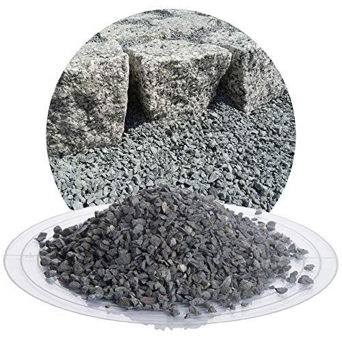 25 kg Diabas Pflastersplitt grau in 2-5 mm von Schicker Mineral für eine stabile, drainagefähige und witterungsbeständige Pflasterbettung