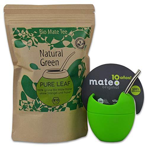 Starterset Delicatino Premium Matee Natural Green 200g + Mate Mateo ORIGINAL – grün