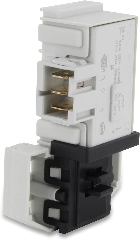 DL-pro Relé de bloqueo para Bosch Siemens iQ100 iQ300 Serie 2 Serie 4 VarioPerfect Maxx Clase extra 610147 00610147 Rold DM070 Cerradura de puerta de lavadora