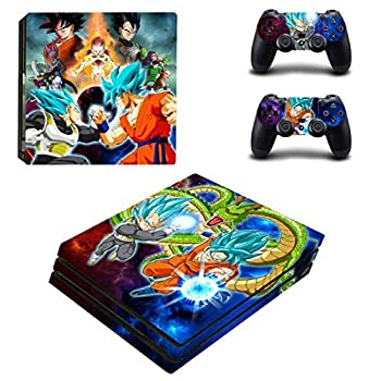Vanknight PS4 Pro Playstation 4 PRO Console Skin Set Dragon Ball Vinyl Decal Sticker 2 Controllers  PRO only