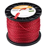 Dalom 2.7 mm/.105' Round Trimmer Line Round Twist 3lbs 690-Feet Red Color...
