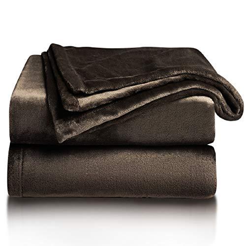 BEDSURE Kuscheldecke Braun XL Decke Sofa, weiche& warme Fleecedecke als Sofadecke/Couchdecke, kuschel Wohndecken Kuscheldecken, 150x200 cm extra flaushig und plüsch Sofaüberwurf Decke