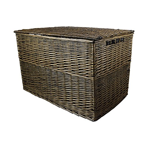 Wovenhill Bronze Wicker Medium Storage Trunk Hamper W75 x D38 x H45cm (Bronze, Medium)
