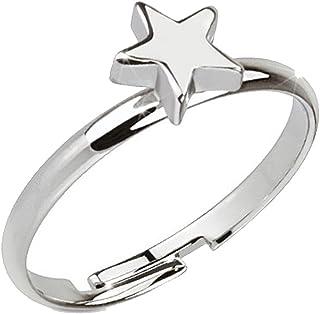 Anello da piede in ottone rodiato, regolabile, motivo: stella