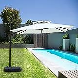 パラソル ガーデンパラソル 250cm ハンドル開閉 風に強い 長方形 大型 ビーチパラソル ガーデニング 庭 テラス アウトドア ビーチ