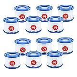 GFIJ Filtro VI para Bestway VI Pool Filtro de repuesto para Lay Z SPA Miami Vegas Monaco BW58323 ERSTZT 58239 (12 unidades)
