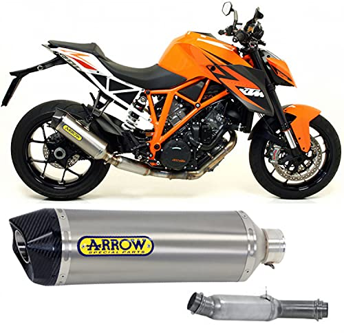 arrow auspuff kat zugelassen race-tech aluminium endkappe carby kompatibel mit ktm 1290 superduke r 2014 2015 2016 mototopgun 71820ak + 71613kz