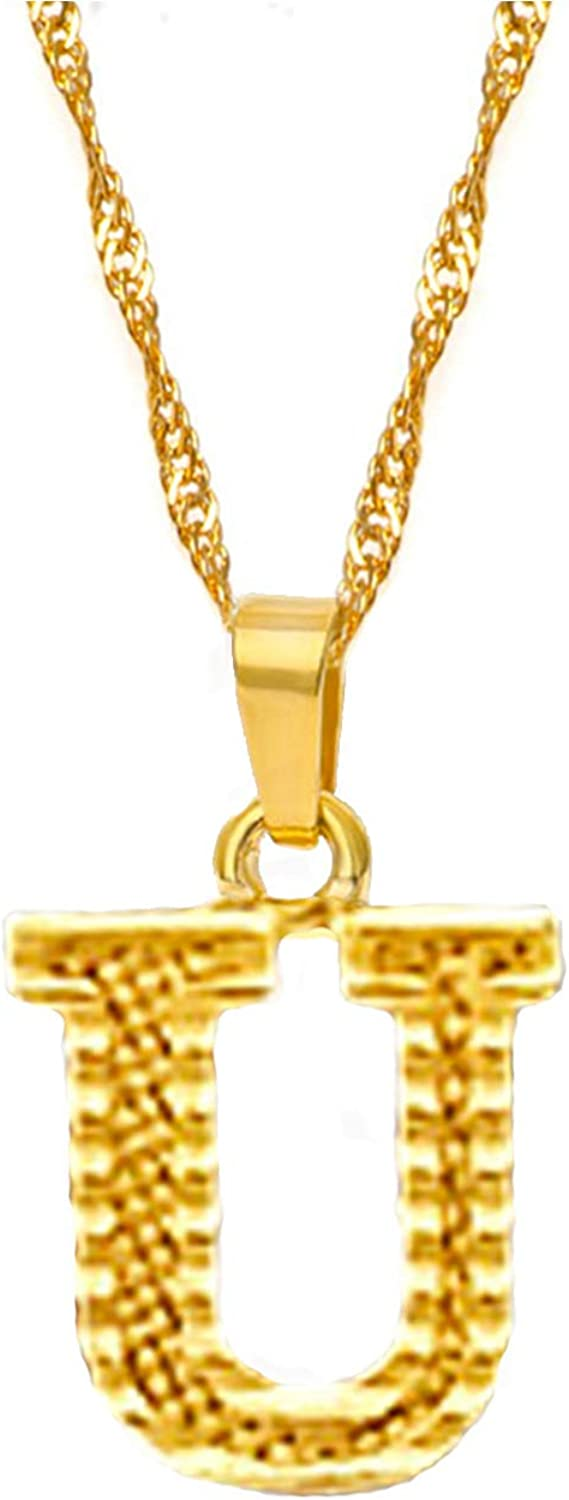 HUASAI Initial Necklace for Women A-Z Letter Necklace Alphabet Name Necklace for Gift