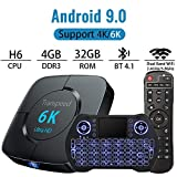 TV Box Android 9.0 Smart TV Box Set Top Box 4GB RAM 32GB ROM with Backlit Wireless Mini Keyboard USB 3.0 Ultra HD 4K 6K HDR Dual Band WiFi 2.4 5.8GHz BT4.1 Streaming Media Player