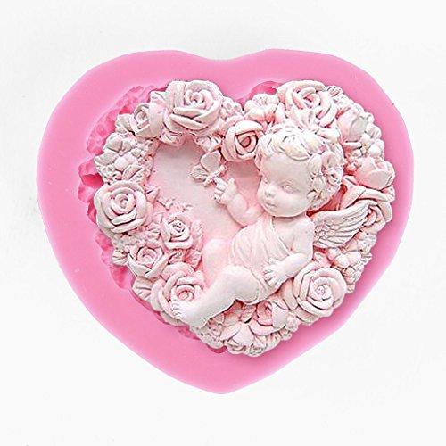 Vollter Fata Angelo Elf silicone della torta del fondente glassa di cioccolato Zucchero che decora Mould Tools colore casuale