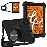 XunyLyee Funda para niños compatible con iPad Mini 5 2019, [con soporte giratorio 360 y correa para el hombro] Funda protectora ligera EVA para iPad Mini 4/Mini 3/Mini 2/Mini 1 - Negro