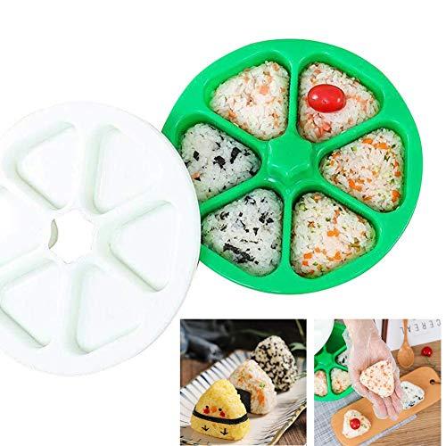 QSFH DIY Sushi-Form,Reis Machen Werkzeuge Reis Ball Bento Mold Pressen,Sushi Maker Machen 6 Unzen Reis Ball,Reis Onigiri Küche Mold Bento Zubehör,grün