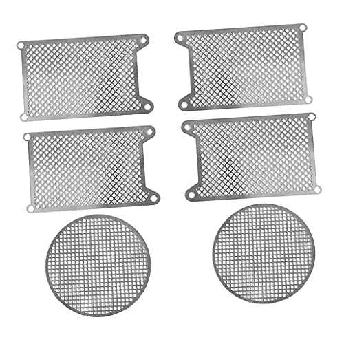 Almencla 6X Metal Protective Net Armored Guard Plate for 1:16 Heng Long German King Tiger 3888 3888A RC Tank DIY Accessories Parts