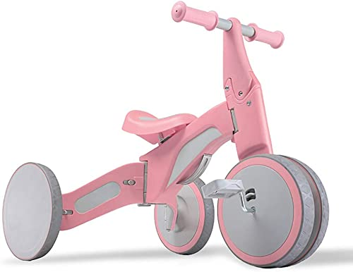 NBgy Dreirad, Multifunktions-Dreirad Für Kinder ZWeißFahrmodi, 2-5 Jahre Altes Baby-Dreirad Im Freien, 3 Farben