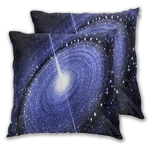 YUDILINSA Funda de Cojín Suave,Starry Galaxy Black Hole Art Impresión en 3D,Funda de Almohada Cuadrado para Sofá Cama Decoración para Hogar 65x65cm,Set de 2