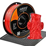 PLA Filament 1.75mm with 3D Build Surface,JAREES Red PLA 3D Printer Filament Dimensional Accuracy +/- 0.02 mm,1kg (2.2lbs) Spool,Fit Most FDM Printers