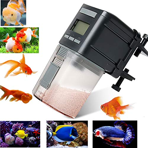 Fish Feeder,Automatic Fish Feeder Battery Operated Aquarium Tank Auto Pet Fish Food Feeder Timer...