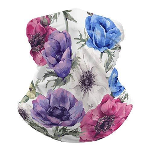 Lrt3q3phyzf6 Cache-cou polyvalent Motif floral coloré 50 x 25 cm