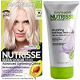 Garnier Nutrisse Ultra Color Hair Color and Anti-Brass Treatment, PL1 Ultra Pure Platinum,2 Count - Pack of 1