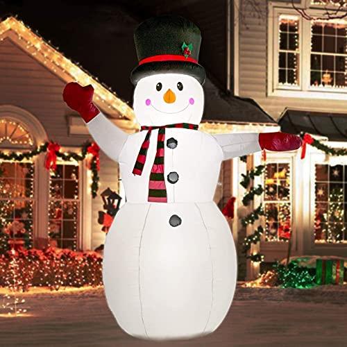 Decoración Navideña Muñeco inflable Muñeco de nieve inflable de 8 pies de Navidad DIRIGIÓ Luces, montar oso polar Santa Claus, Papá Noel inflable con cabeza de agitación, decoración interior de jardín