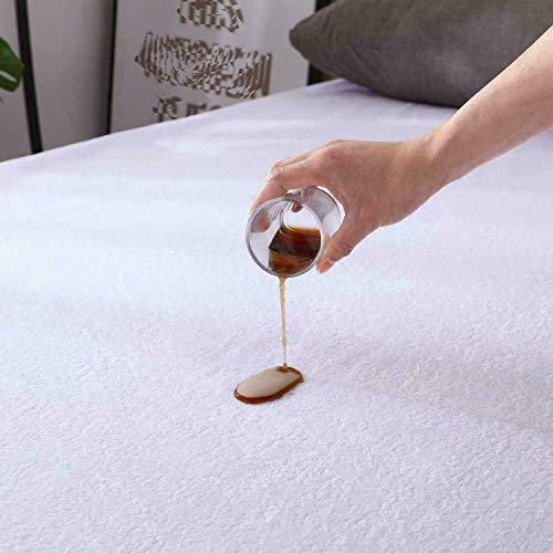 Waterproof Mattress Protector Single Bed Wet Protector Sheet Hypoallergenic Non Noisy, Anti Allergy Mattress Pads Topper Extra Deep 30 CM Deep Matress Cover