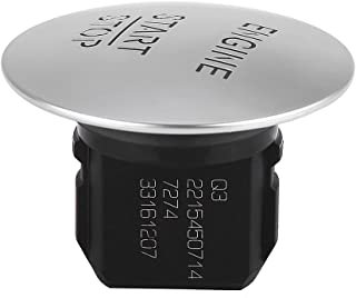 Botón Keyless Go Ignition Go Start Stop Botón pulsador, interruptor de encendido del motor para accesorios de Mercedes 2215450714, plateado