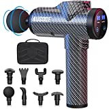Massage Gun for Athletes, AUSOQE Deep Tissue Percussion Muscle Massager with 30 Speeds 8 Heads, Handheld Electric Body Massager for Office Gym Home Post-Workout Recovery Super Quiet