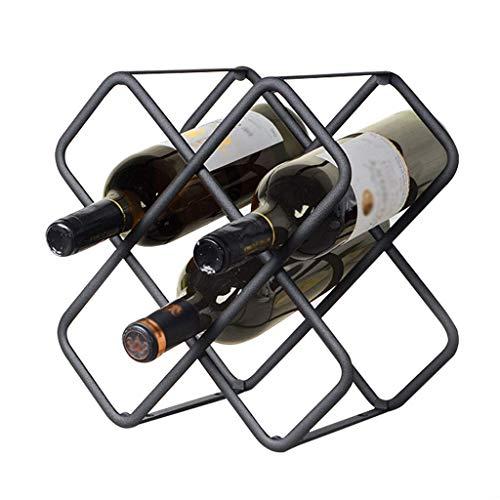 YLCJ Tabletop Bottle Holder Storage Organizer Wine Beer Water Bottles Stand-alone Shelf Holder Kitchen Pantry Fridges 3 Shelves Holds 5 Bottles Metal