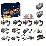Leic Motor Power Pack Módulo 164 piezas 2.4G RC 9 Motores de Litio Motor Power Set para Technic Mclaren P1 Compatible con Lego 20674