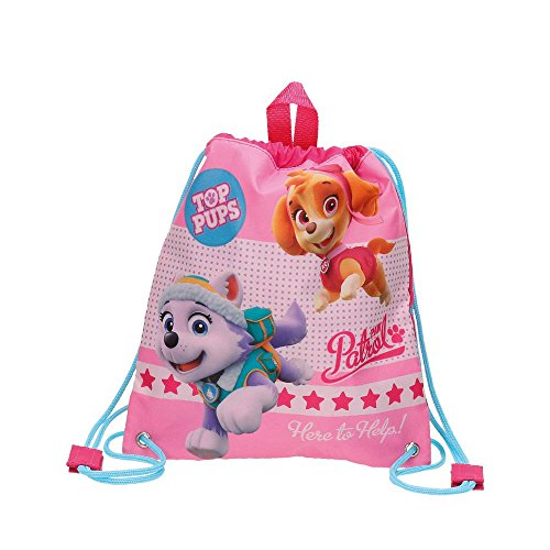 Paw Patrol-4873651 Bolsa de merienda, Color Rosa, 30 cm (Joumma 48736)