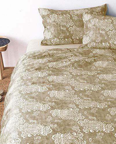 Zucchi Bettwäsche-Set für Doppelbett aus Reiner Baumwolle Easy Chic Nao Beige