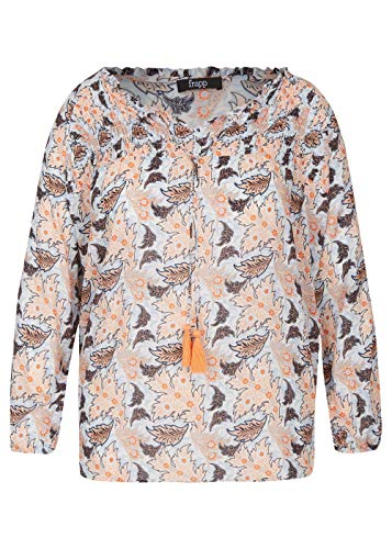 Frapp Damen Verspielte Bluse mit floralem Print