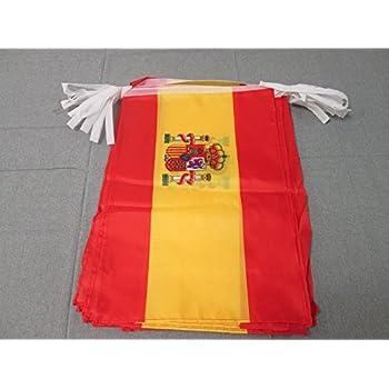 AZ FLAG Guirnalda 12 Metros 20 Banderas de ESPAÑA 45x30cm ...