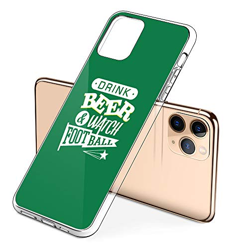 Premium iPhone 11 Pro Phone Cases with Drink Beer and Watch Football Design on Protective PC Hard Back, The Best Essential Accessories