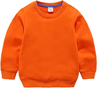 Baby Toddler Kid Boy Girl Solid Casual Crewneck Sweatershirt Pullover