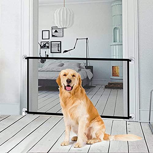 Tragbar Hunde Türschutzgitter 72 * 180cm Treppenschutzgitter für Hunde Treppentor für Haustiere für Haushunde Katzen, Hundetürschutz Hundebarrieren