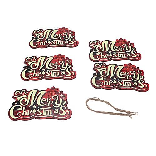 mumisuto Cartel de Feliz Navidad para Decoraciones de árboles de Navidad, Adornos...