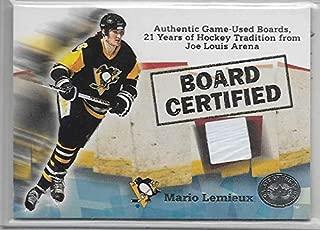 2001-02 Greats Of The Game Hockey Mario Lemieux Joe Louis Arena Boards Card