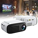 7000 lúmenes Full HD 1080P Compatible, Mini proyector LED portátil Cine en casa Compatible con HDMI/ USB / AV / TF / Smartphones / PS4 / Reproductor de DVD