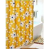 S-ZONE Sonnenblume Drucken Duschvorhang Verdicken Anti-Schimmel Polyester Wasserabweisend 180x180