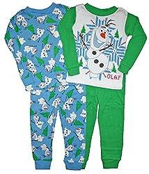 Olaf Little Boys 4 PC Cotton Pajama Set