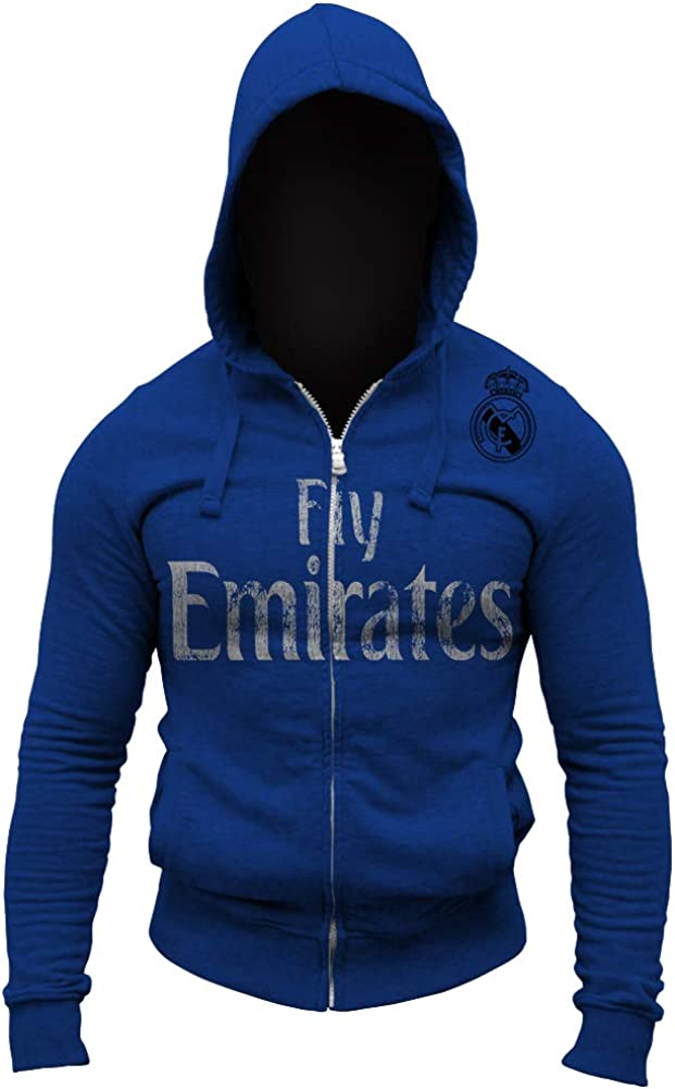 Real Madrid Fly Emirates Shoulder Hoodie Zip-Up Outlet ☆ Free Max 45% OFF Shipping Full Soccer Logo