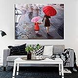 tzxdbh 60x90cmlarge Lange Aritist Handbemalt Schöne Abstrakte Ölgemälde Home Decor auf Leinwand Wandbilder Kunstwerk für Büro Restaurant ohne Rahmen