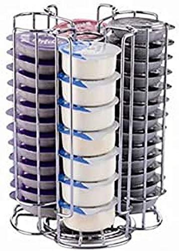 EXZACT drehbarer Kaffeepad Halterung Kaffeekapselhalter kompatibel für Tassimo Kapseln(52 Stück) - Rotierendes Pod Tower Rack (52 Stück)